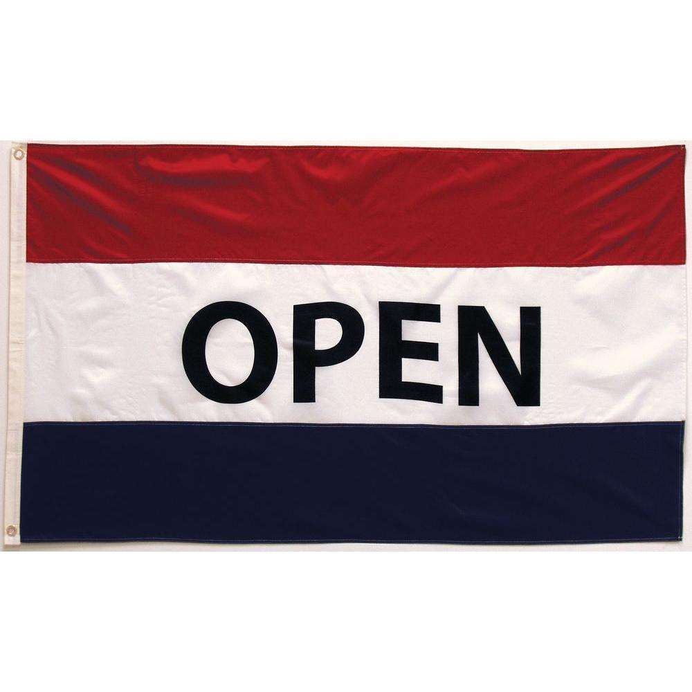 Seasonal Designs 3 ft. x 5 ft. Open Flag