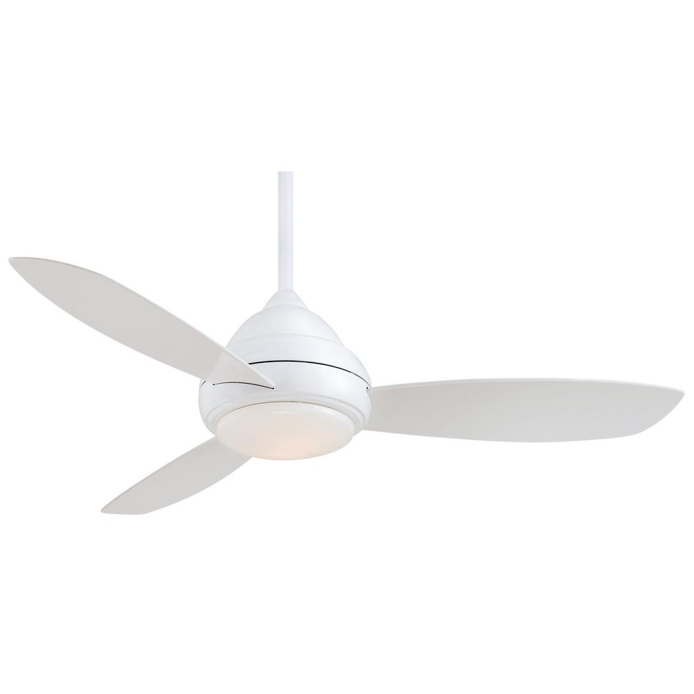 Minka Aire Concept I 52 In Integrated Led Indoor White Ceiling Fan With Light Remote Control