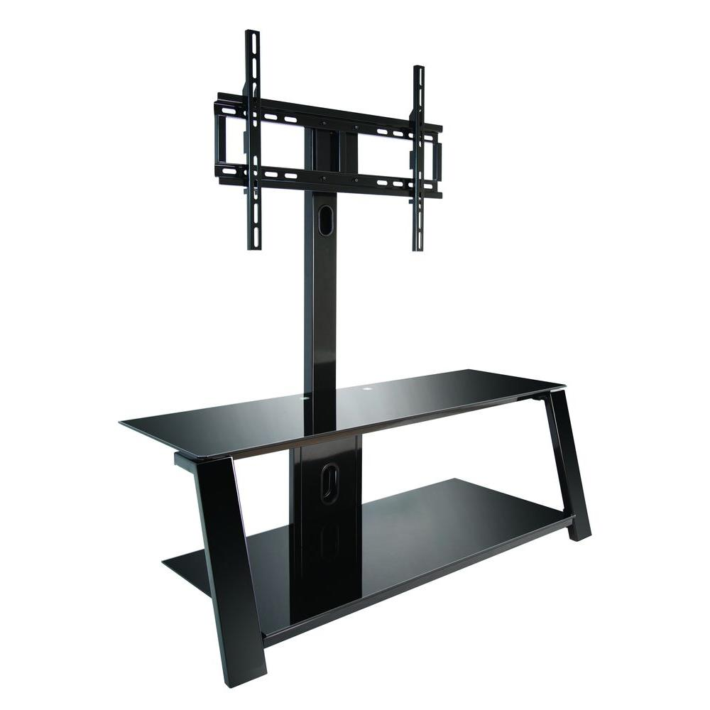 Bell'O Black Swivel Mount Entertainment Center