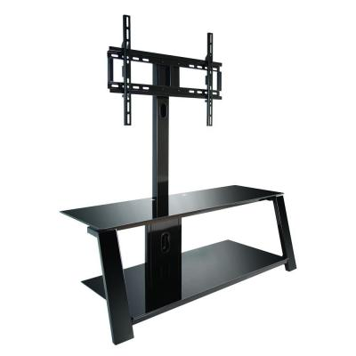 Black Swivel Mount Entertainment Center