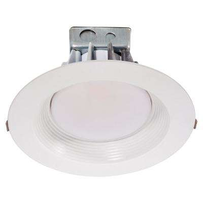8 in. White Integrated LED Recessed Trim