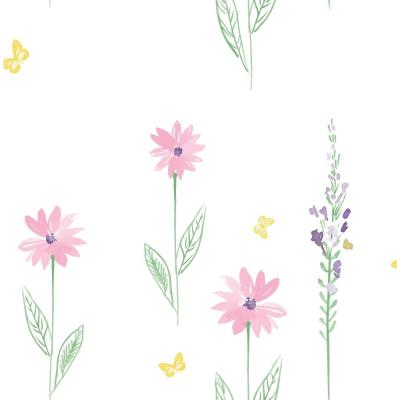 Daisy Field Paper Strippable Roll (Covers 56 sq. ft.)