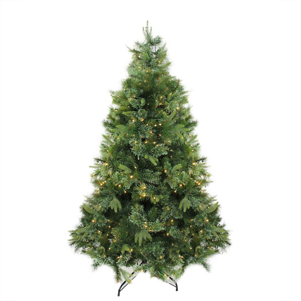 fa335b82e27 6.5 ft. x 49 in. Pre-Lit Cashmere Mixed Pine Artificial Christmas Tree Warm  Clear LED Lights-32265726 - The Home Depot