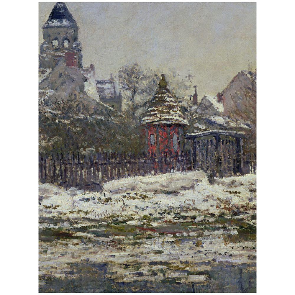 Trademark Fine Art 24 in. x 32 in. The Church at Vetheuil 1879 Canvas Art