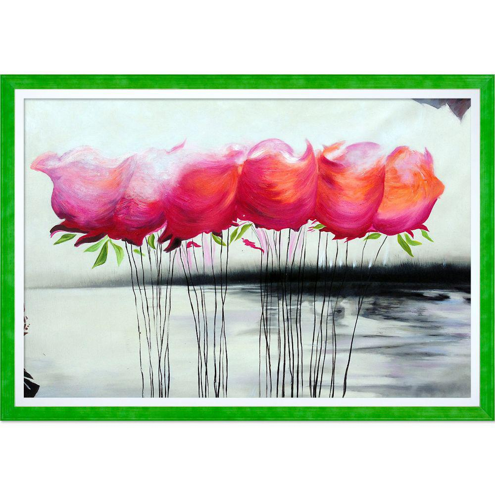 ArtistBe A Touch of Color Reproduction with Jubilee Green with Studio White Custom Stacked Frameby Michael Hitt Canvas Print, Multi-color was $1546.0 now $752.06 (51.0% off)