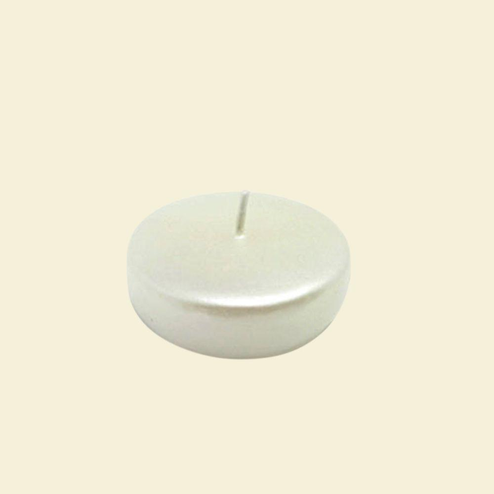 2.25 in. Pearl White Floating Candles (Box of 24)
