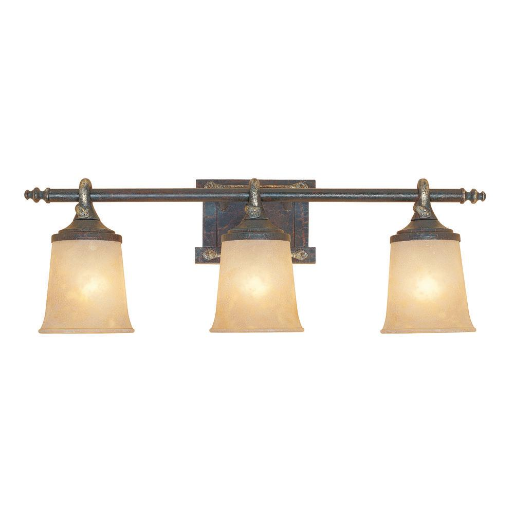 El Paso 3-Light Weathered Saddle Wall Light