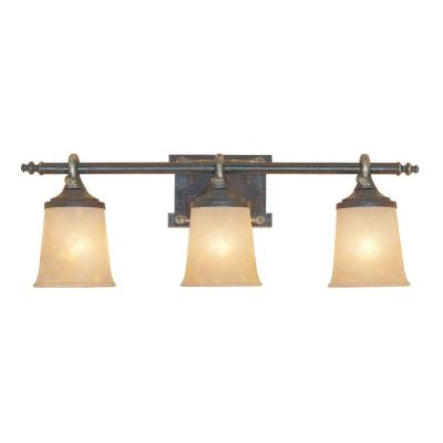 Austin 3-Light Weathered Saddle Wall Light