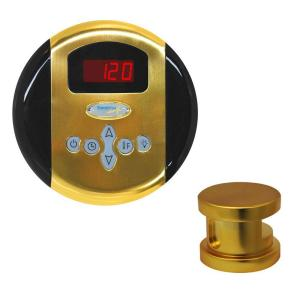 SteamSpa Oasis Steam Bath Generator Control Kit in Polished Brass by SteamSpa