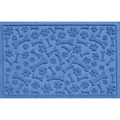 Aqua Shield Paws and Bones White 17.5 in. x 26.5 in. Pet Mat