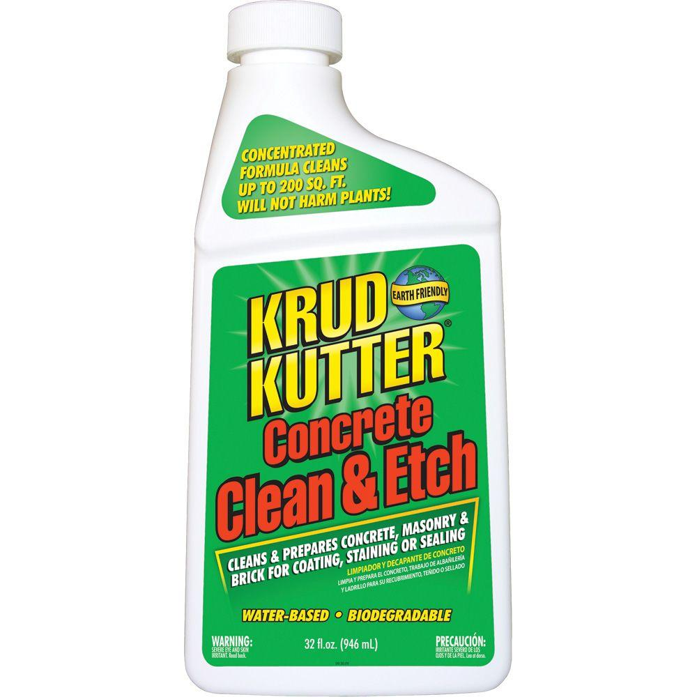 Krud kutter 32 oz concrete clean and etch ce326 the for Cement cleaning products