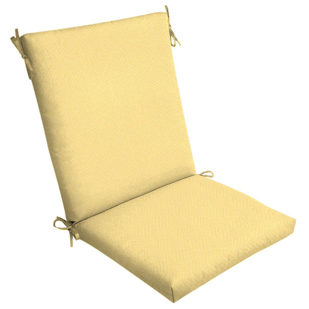 Arden Selections Shirt Texture Outdoor High Back Dining Chair Cushion