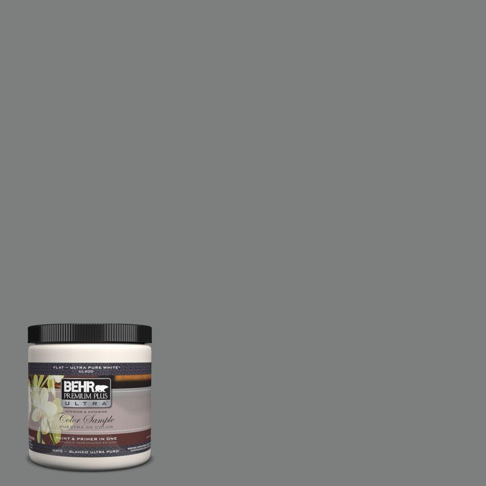 BEHR Premium Plus Ultra 8 oz. #6795 Slate Gray Matte Interior ...