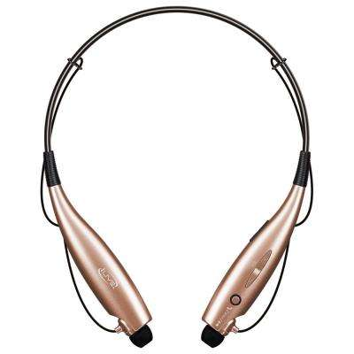 Bluetooth Wireless Neckband Earbuds, Rose Gold