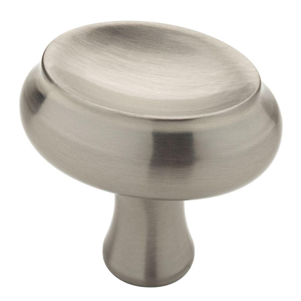 Glenview 1-3/8 in. (35mm) Satin Nickel Oval Cabinet Knob