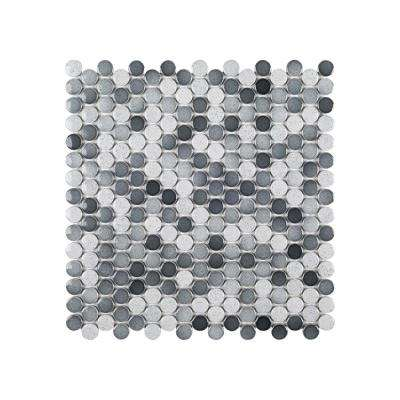 Acid Washed 12.25 in. x 12.25 in. x 6 mm Porcelain Mosaic Tile