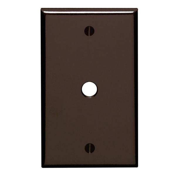 Brown 1-Gang Phone Jack Wall Plate (1-Pack)