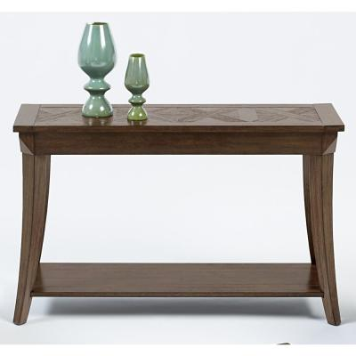 Appeal I 48 in. Dark Brown Standard Rectangle Wood Console Table with Storage