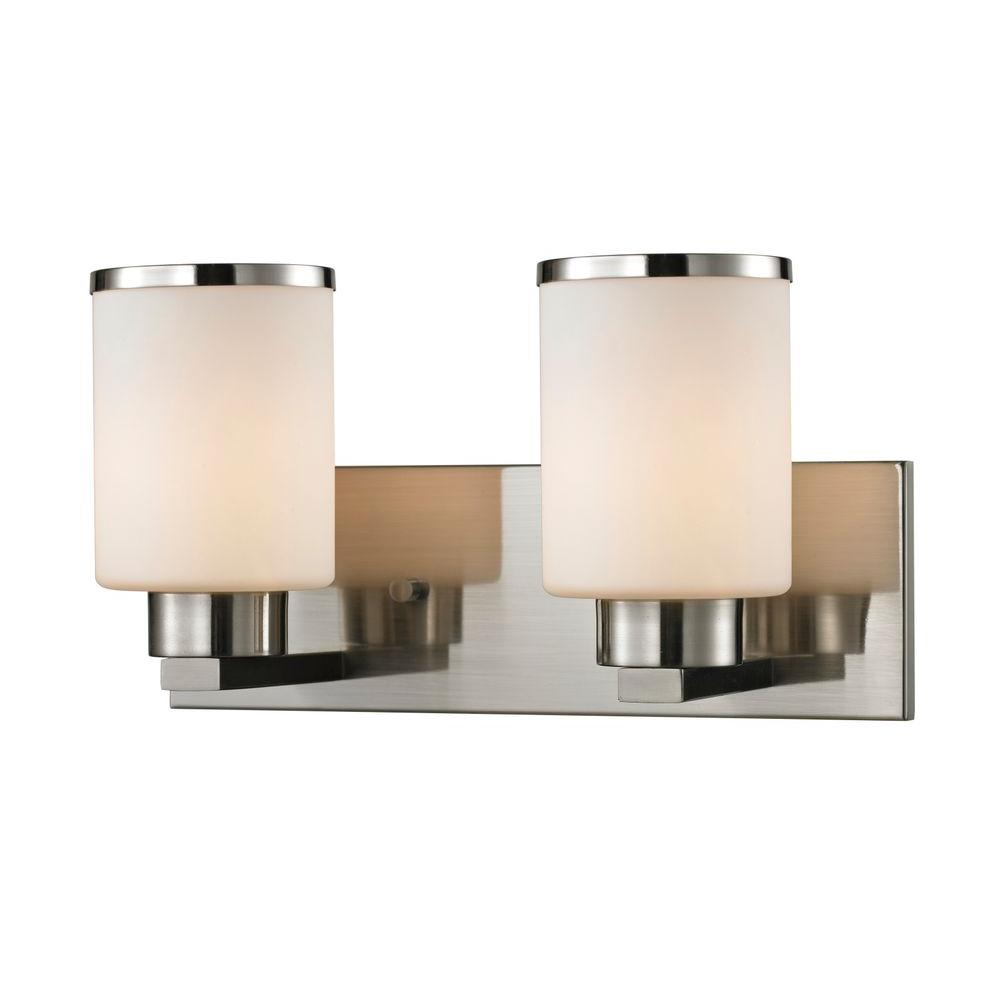 Filament Design Empire 2-Light Brushed Nickel Bath Vanity Light