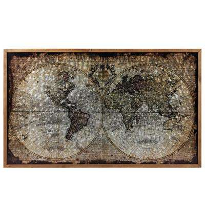 "23.75 in. x 40.50 in. ""1711 World Map Painting By John Senex"" Printed Wall Art"