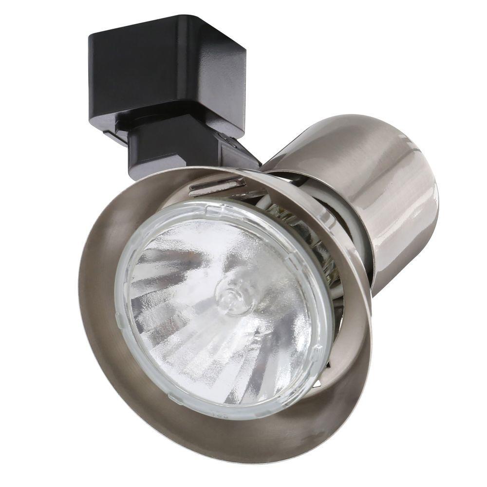 Trac-Lites Satin Chrome Flared-Gimbal Light
