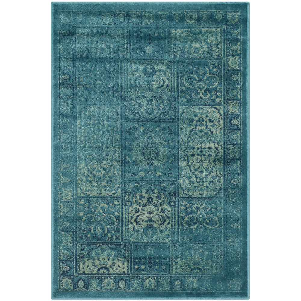 Safavieh Vintage Turquoise And Multi Colored Area Rug: Safavieh Vintage Turquoise/Multi 2 Ft. X 3 Ft. Area Rug