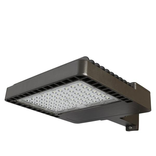 1200-Watt Equivalent Integrated LED Bronze Dusk to Dawn Area Light and Flood Light with 18000 Lumens Outdoor Light
