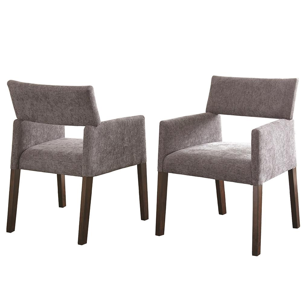 Steve silver amalie grey side chair set of 2