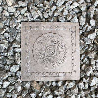 11.81 in. x 11.81 in. x 1.81 in. Natural Concrete Lightweight Concrete Rosetta Square Stepping Stone(2-Pack)
