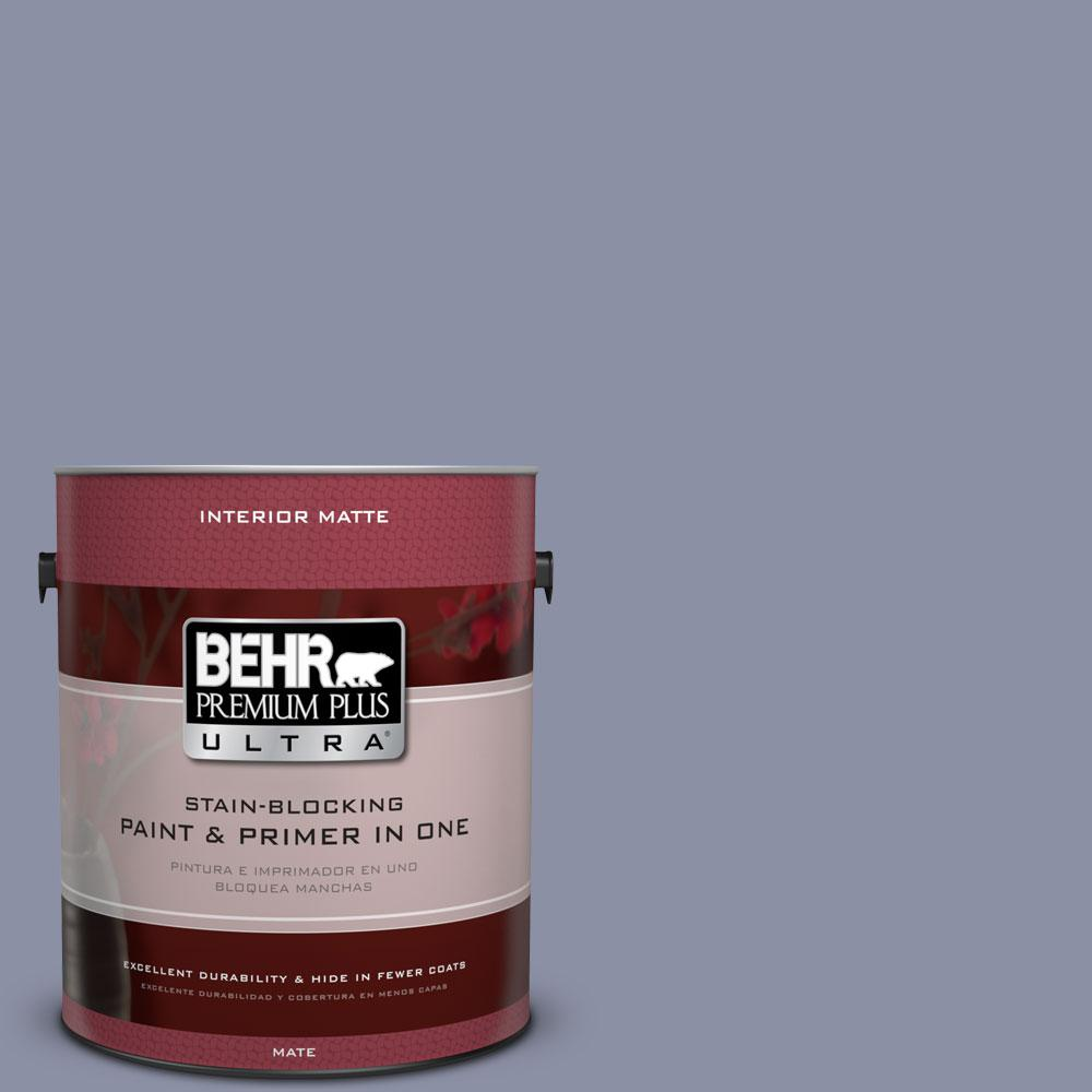 BEHR Premium Plus Ultra 1 gal. #S550-4 Camelot Matte Interior Paint and Primer in One