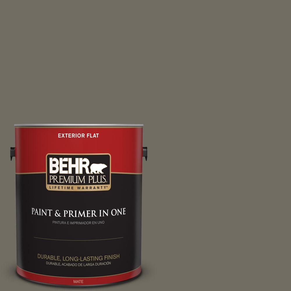 BEHR Premium Plus 1-gal. #790D-6 Dusty Mountain Flat Exterior Paint