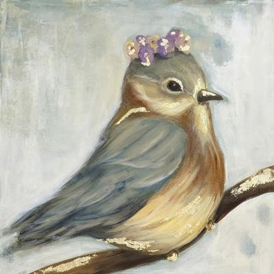 """30 in. x 30 in. """"Chickadee"""" by Jade Printed and Painted Canvas Wall Art"""