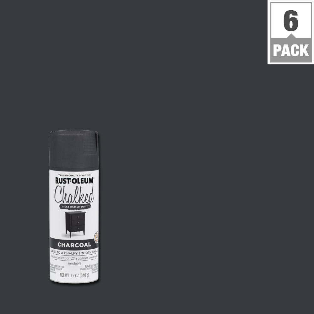 12 oz. Chalked Charcoal Ultra Matte Spray Paint (6-Pack)