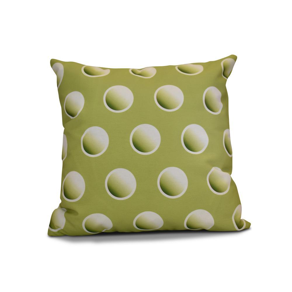 Tremendous Dip Dye Green Geometric 17 In X 17 In Throw Pillow Machost Co Dining Chair Design Ideas Machostcouk