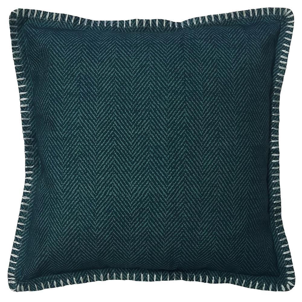 Herringbone Charleston Solid Outdoor Throw Pillow