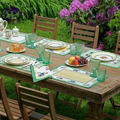 French 14 in. W x 20 in. L Multi-Color-Color Garden Print Placemats (Set of 4)