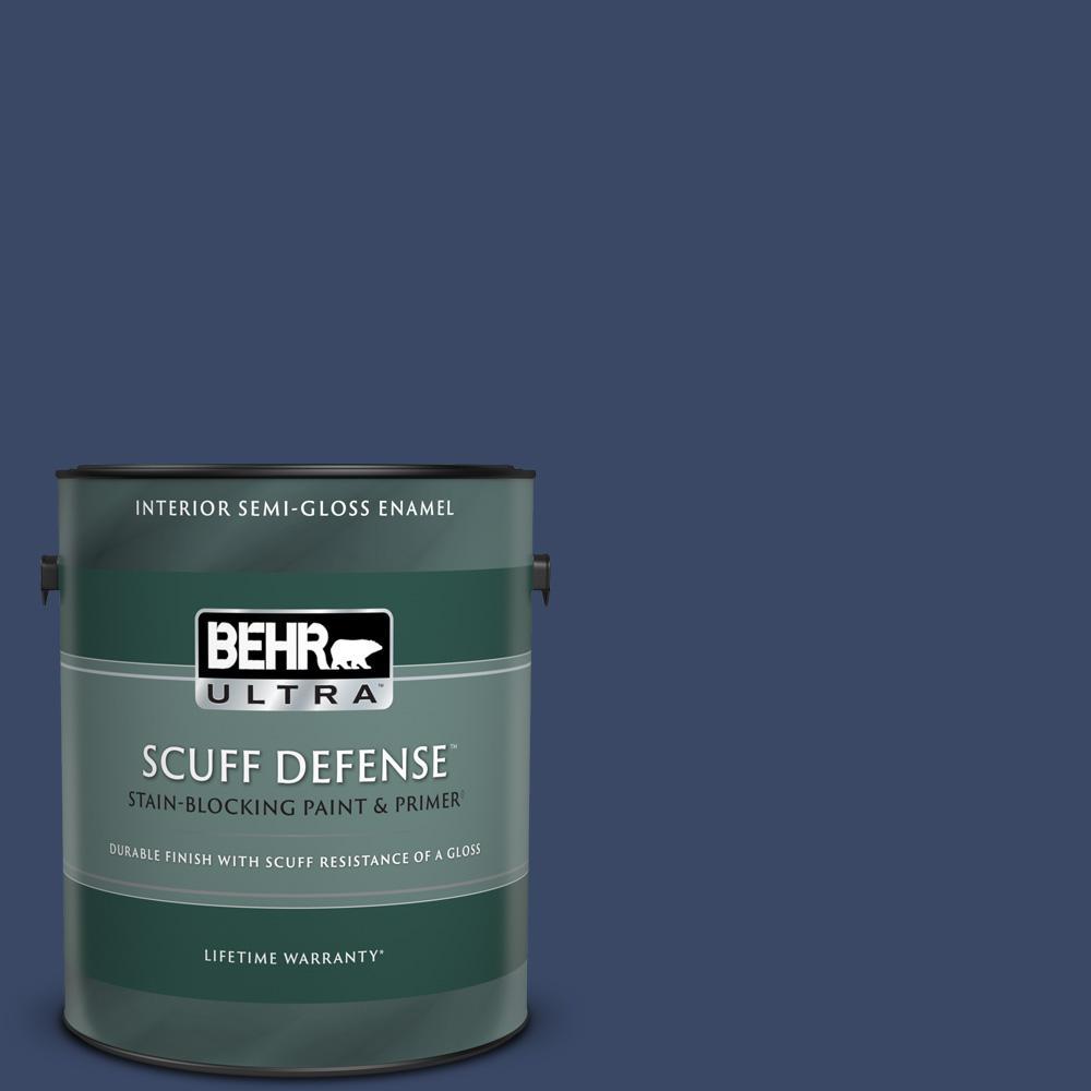 Behr Ultra 1 Gal Mq5 14 Bon Nuit Extra Durable Semi Gloss Enamel Interior Paint Primer 375301 The Home Depot