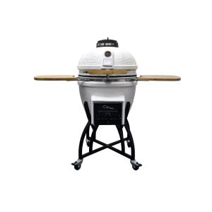 Vision Grills Kamado Professional Ceramic Charcoal Grill in White with Grill... from Charcoal Grills