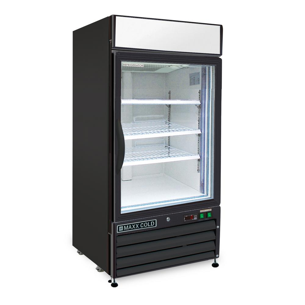 12 cu. ft. Single Door Merchandiser Commercial Upright Freezer in Black