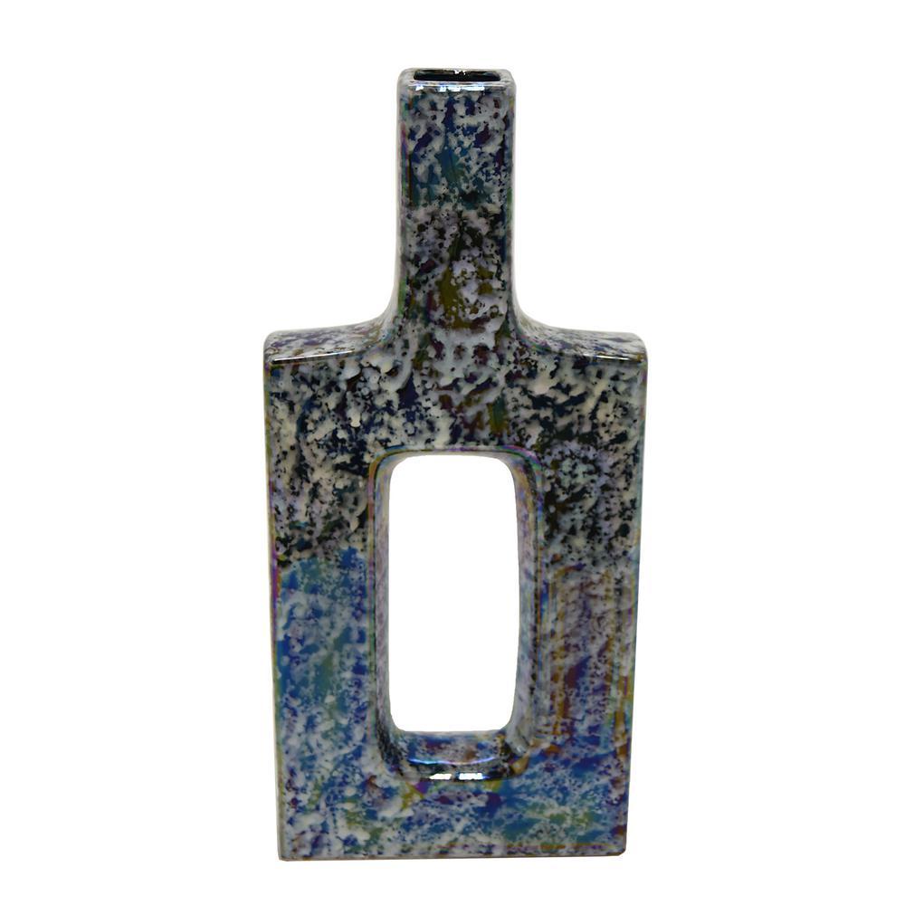 Multi-Colored Ceramic Decorative Vase
