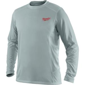 2a7792be67fb1 Milwaukee Men s Extra Large Work Skin Gray Long Sleeve Light Weight  Performance Shirt