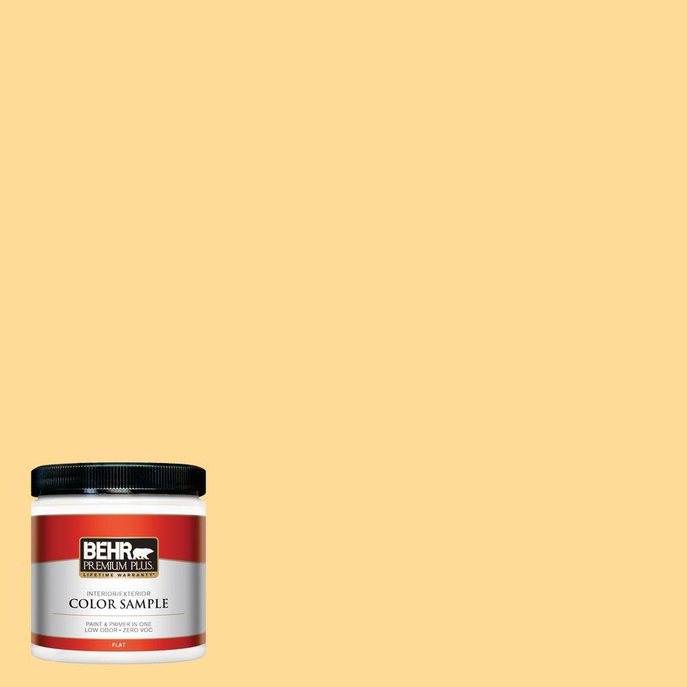 8 oz. #320B-4 Lemon Pound Cake Interior/Exterior Paint Sample