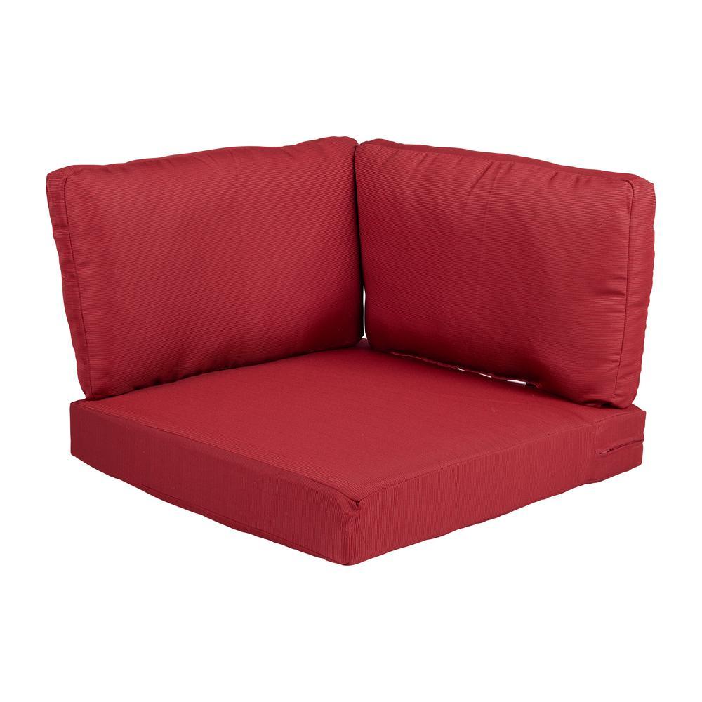 Beverly Cardinal Replacement 3-Piece Outdoor Corner Chair Cushion Set