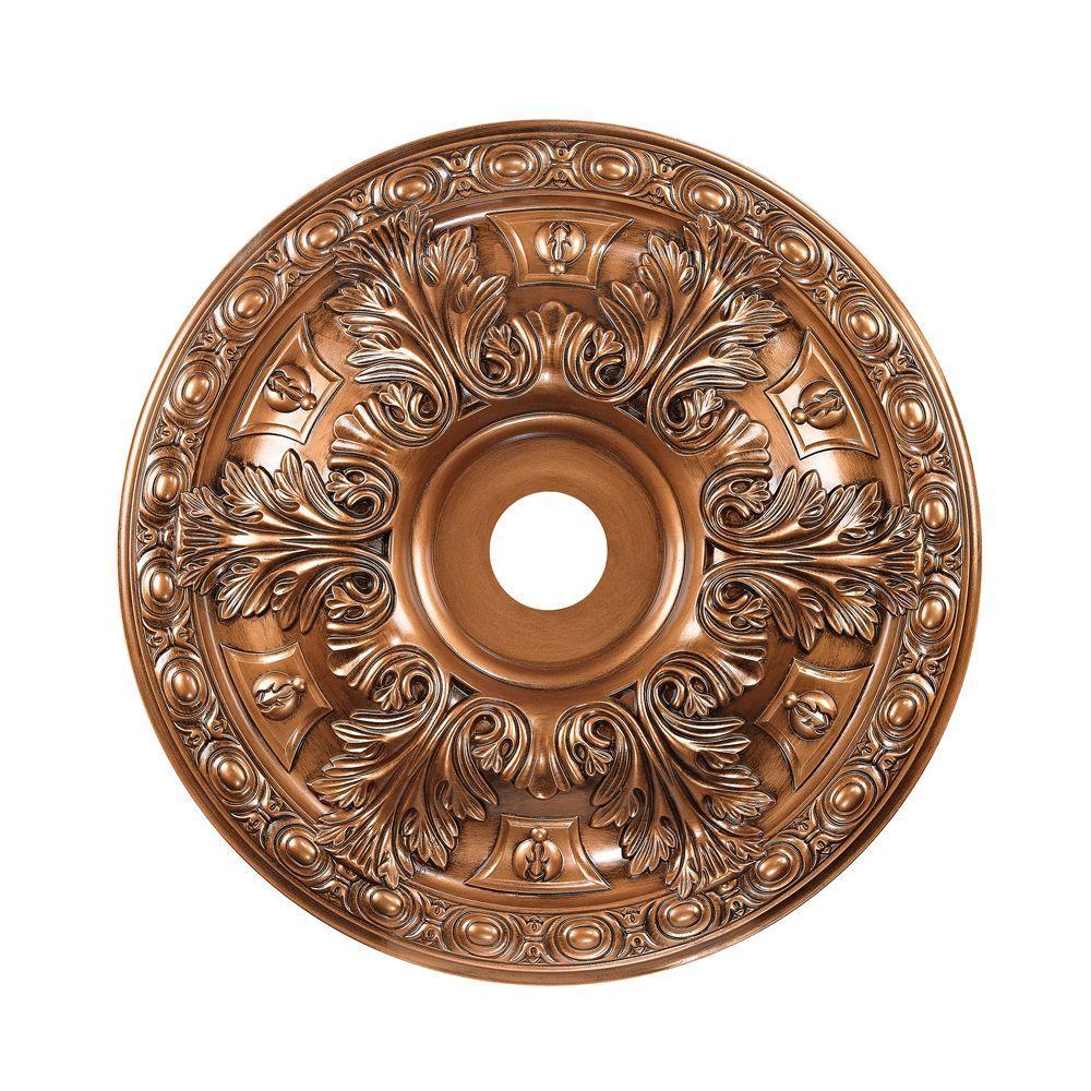 Titan Lighting 28 in. Antique Bronze Ceiling Medallion