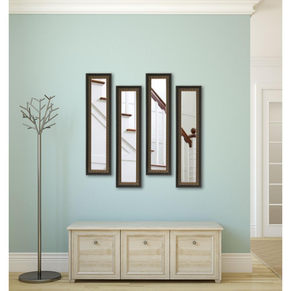 9 5 In X 27 5 In Shiny Bronze Vanity Mirror Set Of 4