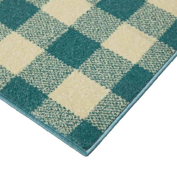 NOVELTY 60X110CM  APROX 4X2FT WOVEN RUGS//MATS CREAM//BEIGE NEW STAG CHECK BARGAIN