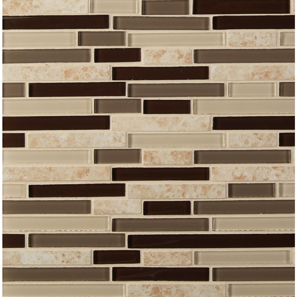 MSI Amalfi Cafe Interlocking 12 in. x 12 in. x 6 mm Glass and Porcelain Mesh-Mounted Mosaic Wall Tile