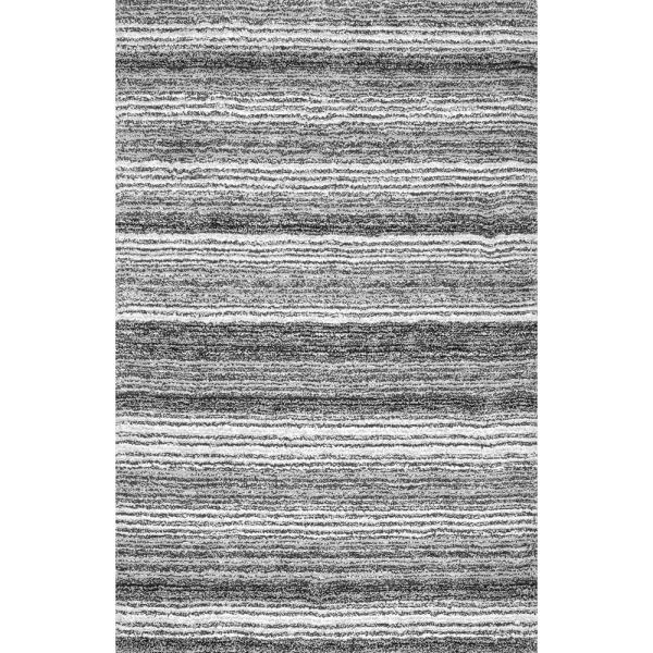 Drey Ombre Shag Gray Multi 8 ft. x 10 ft. Area Rug