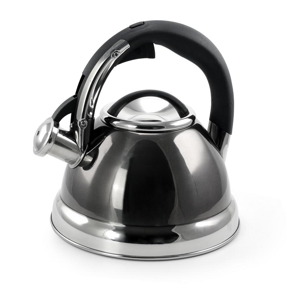 Kelton 2 Qt. Stainless Steel Whistling Tea Kettle