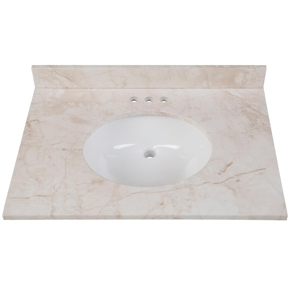 Home Decorators Collection 31 In W X 22 D Stone Effects Vanity